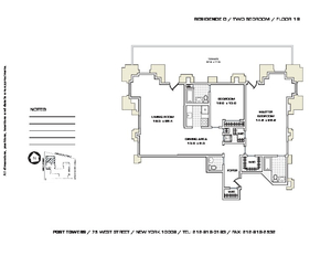floorplan for 75 West Street #16C