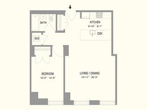 floorplan for 55 West 17th Street #802