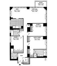 floorplan for 422 East 72nd Street #19A