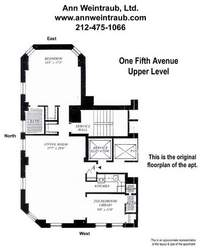 floorplan for 1 Fifth Avenue #24A