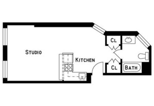 floorplan for 227 East 96th Street #1RE