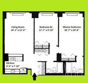 floorplan for 108 East 96th Street #2C