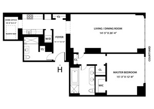floorplan for 15 Central Park West #12H