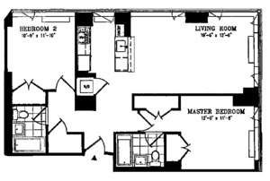 floorplan for 635 West 42nd Street #36E