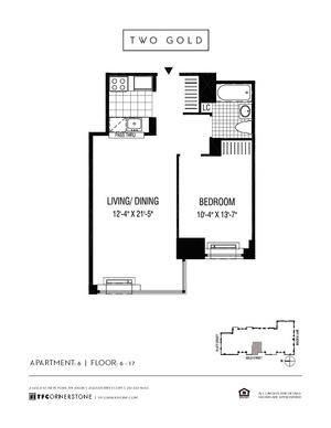 floorplan for 2 Gold Street #806