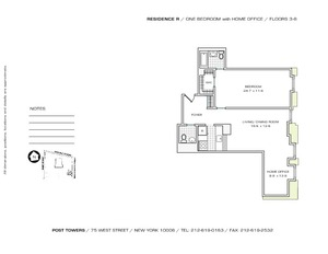 floorplan for 75 West Street #5R
