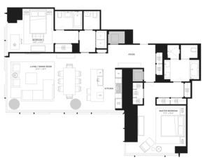 floorplan for 157 West 57th Street #37C
