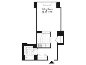 floorplan for 601 West 57th Street #7G