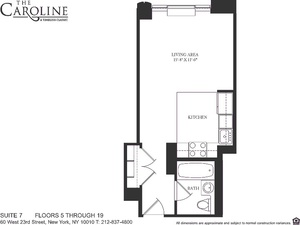 floorplan for 60 West 23rd Street #807