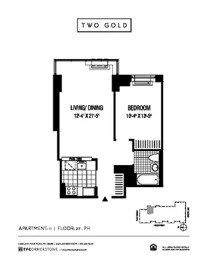 floorplan for 2 Gold Street #3711
