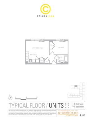 floorplan for 1209 De Kalb Avenue #411