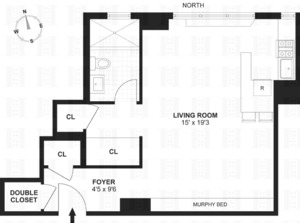 floorplan for 235 East 22nd Street #7N