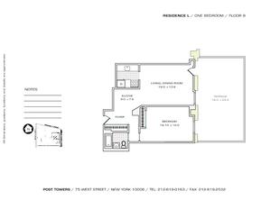 floorplan for 75 West Street #9L