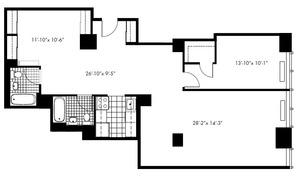 floorplan for 50 Murray Street #X22