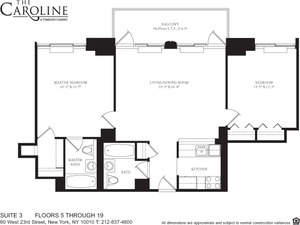 floorplan for 60 West 23rd Street #1103